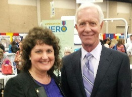 Linda and Capt. Sully at Texas Apartment Assoc. Convention