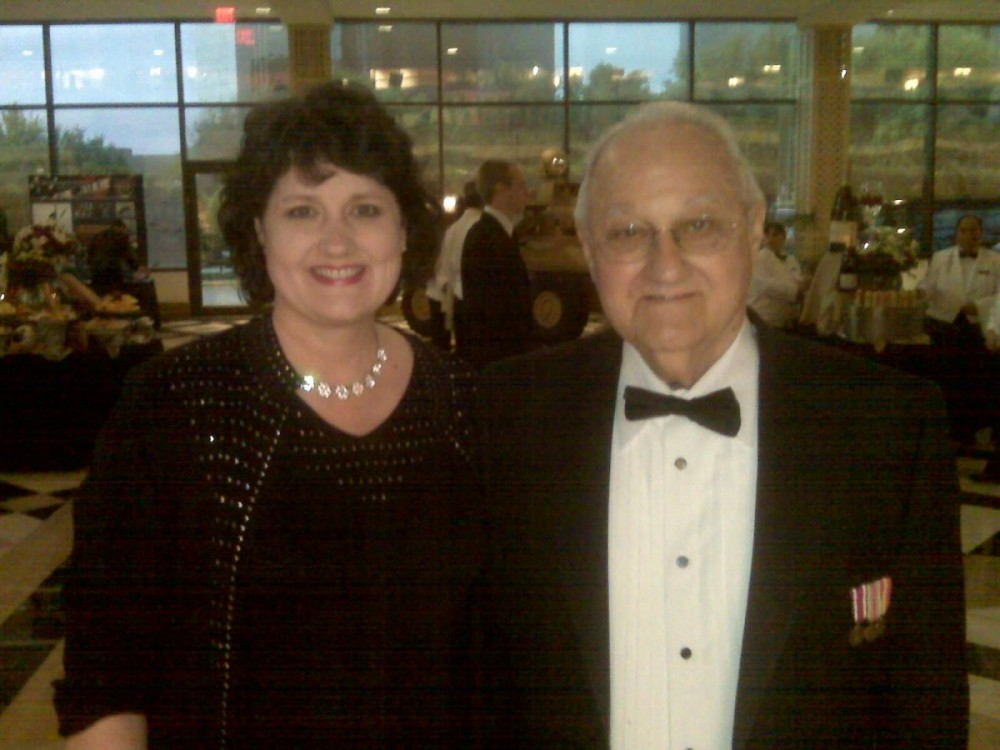 Dallas/Fort Worth Military Ball with dad as my date a few years ago. Notice I wore black in case I spilled something.