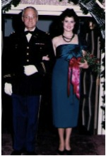 Attempt to cover mishap with ribbons Texas Tech Formal circa 1985