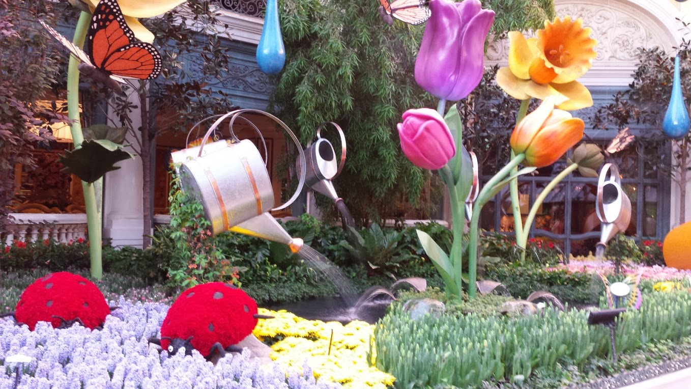 Spring has arrived at the Bellagio Hotel in Las Vegas (After I lost my money in the casino, I took this photo in the hotel lobby – gorgeous!)