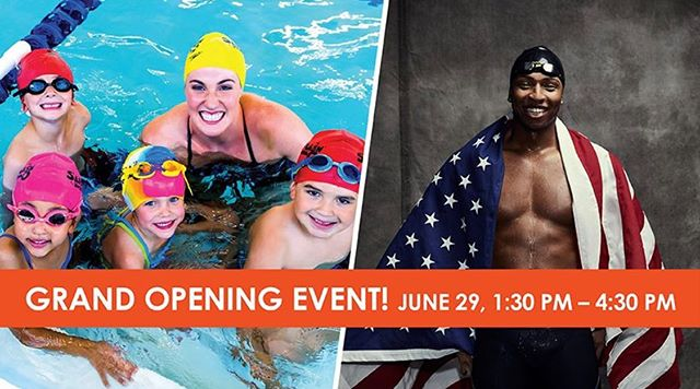 Tomorrow is a very special party to celebrate the grand opening of @ss_sl_fortmill! You will have the opportunity to meet  two Olympic Gold Medalists!  You will not want to miss meeting Missy Franklin and Cullen Jones!!! . . Fort mill mom life will be there with a ton of other businesses to celebrate @ss_sl_fortmill joining our amazing community!!