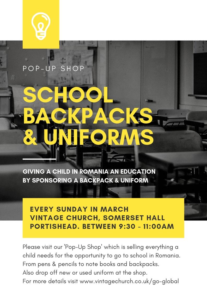 'Pop-Up Shop' - Every Sunday at VIntage Communty ChurchSomerset Hall, Portishead, Bristol BS20 6AH9:30am - 11:00am