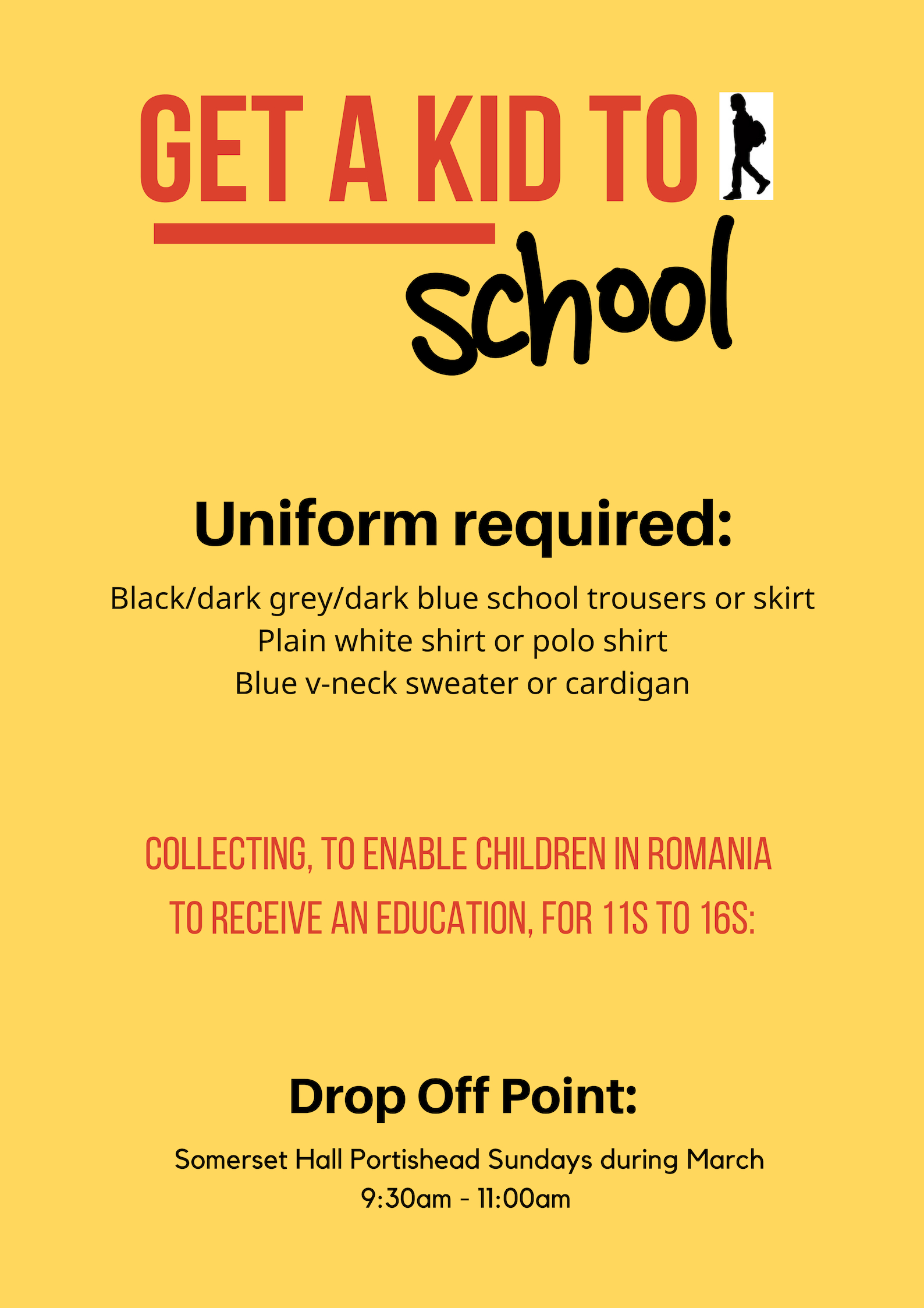 """""""Providing a uniform & backpack gives a child an opportunity to be educated"""". -"""