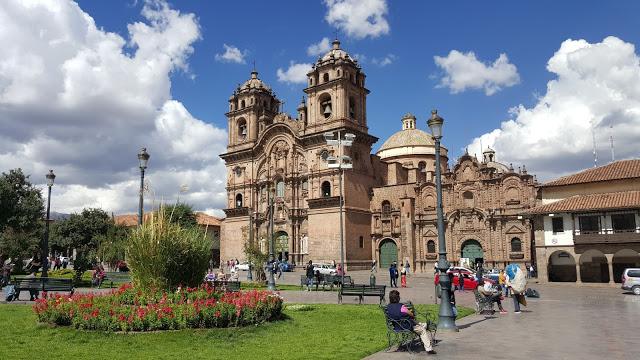 Main square and cathedral in Cusco, Peru
