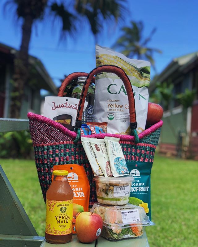 🌞🌊Beach basket done right! Tasty snacks, refreshing drinks, and nutritious meals, all fit in a wonderful hand woven basket!! 🧺 How could you resist?? 🧺 #seeyouatthehut