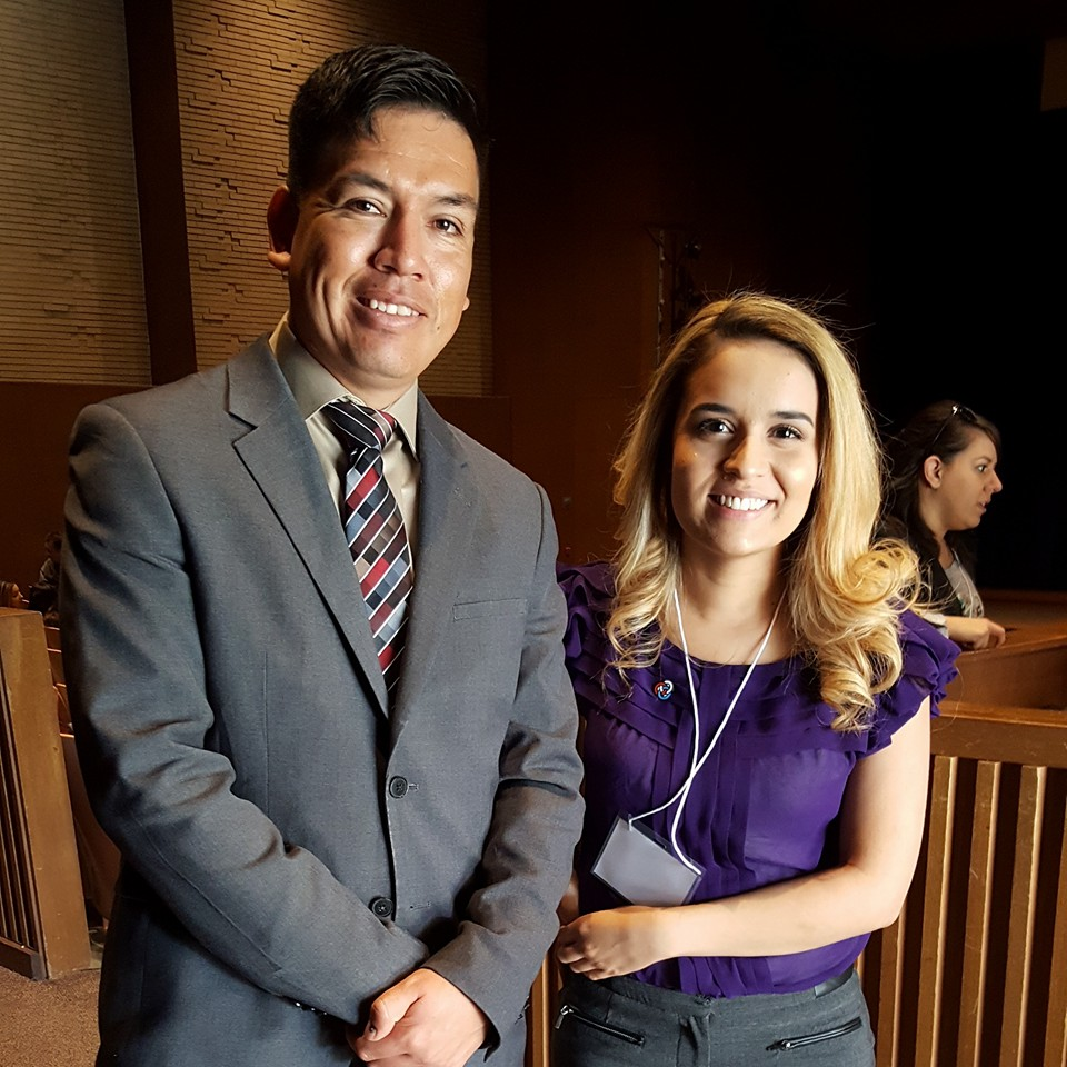Former Keynote Speaker Oscar Vazquez from  Underwater Dreams  and  Spare Parts  with FHLA Alum Alejandra Castellaños