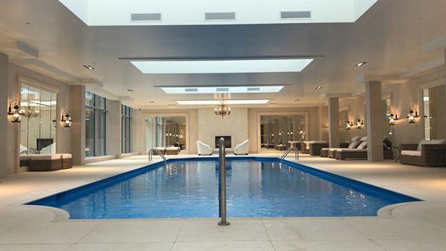 Indoor pool goals! Sunday's we sit back & relax!🏊♂️