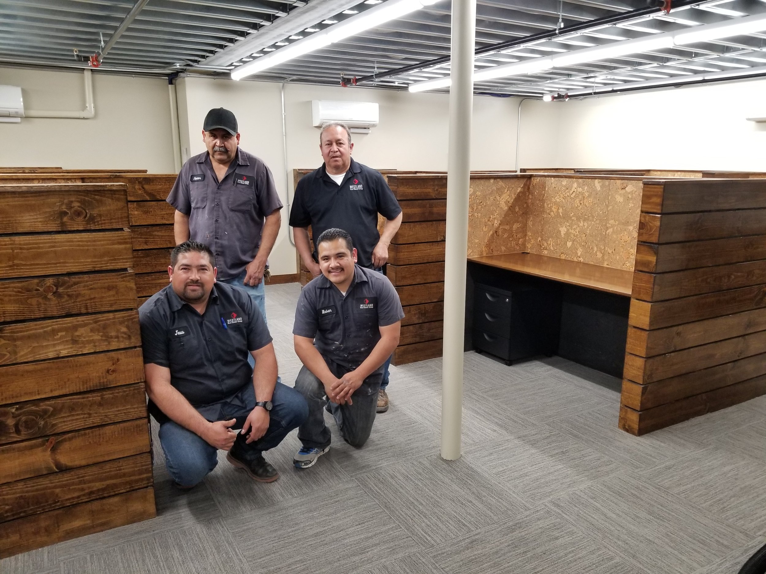 Our proud Maintenance Team: Jesus, Rafael, Hector, and Ruben.