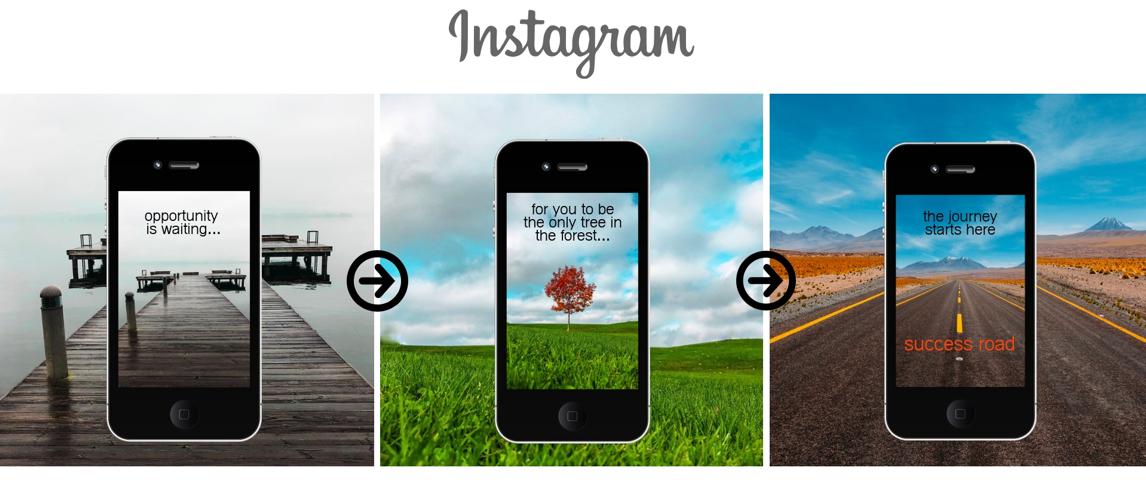 Success Road Social Media Ad Example