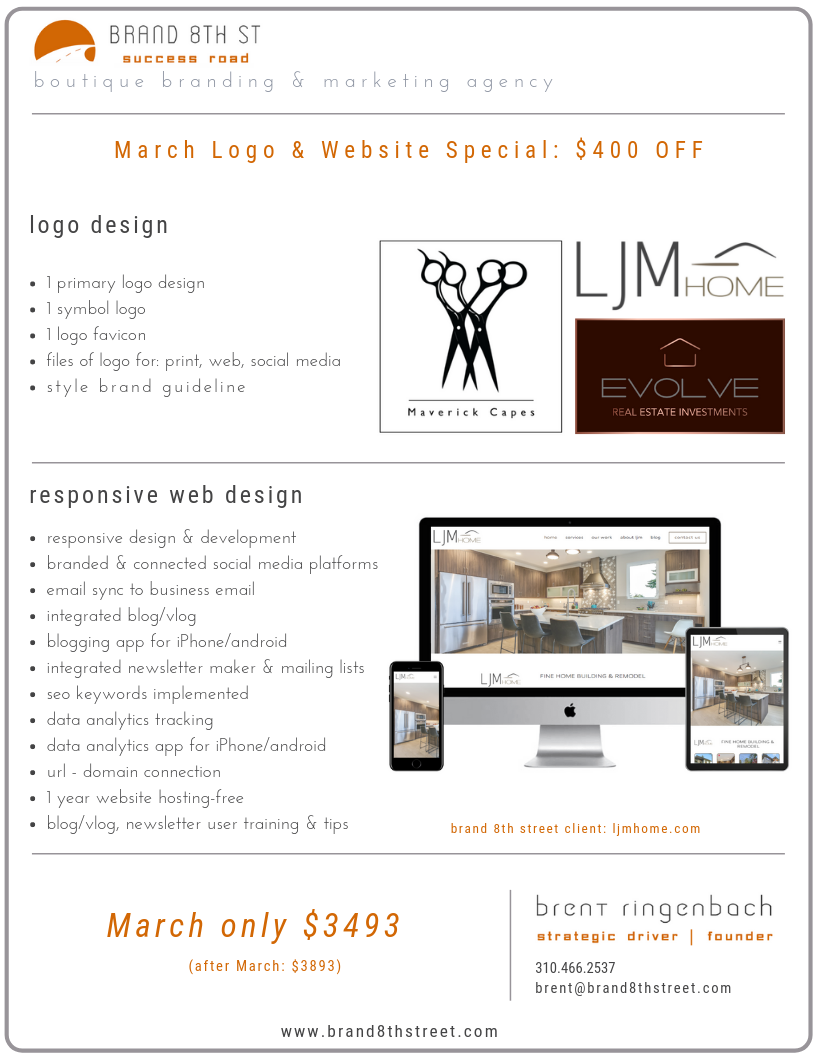 March Special Logo & Website Design brand 8th st