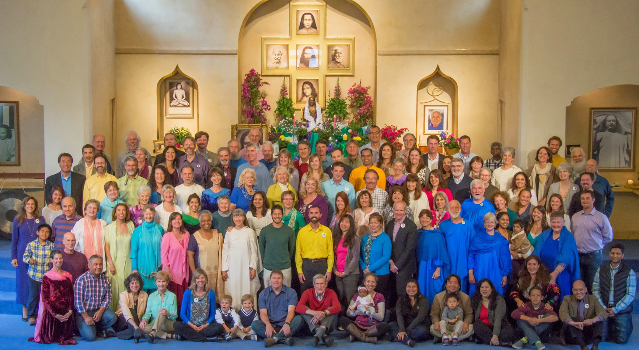 Ananda Palo Alto congregation after a recent Easter celebration