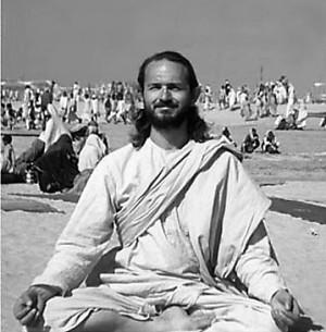 Swami meditating in India