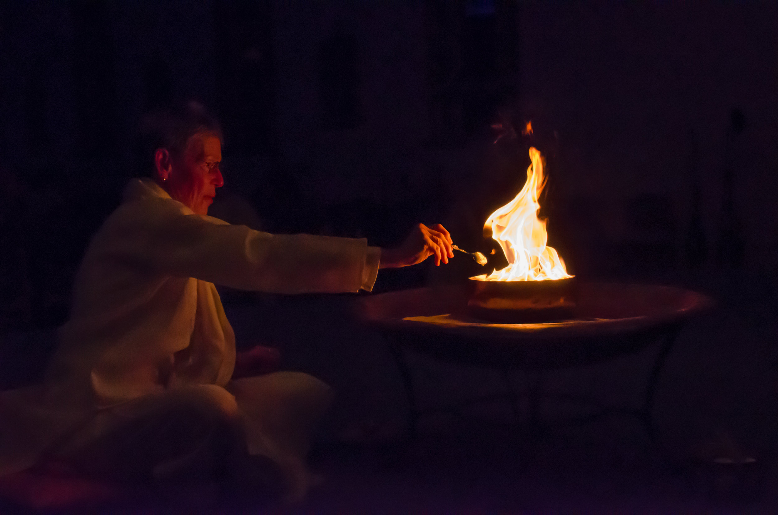 Sacred fire ceremony during vows