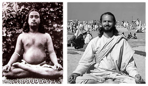Meditating yogis:    Yogananda    •    Swami Kriyananda