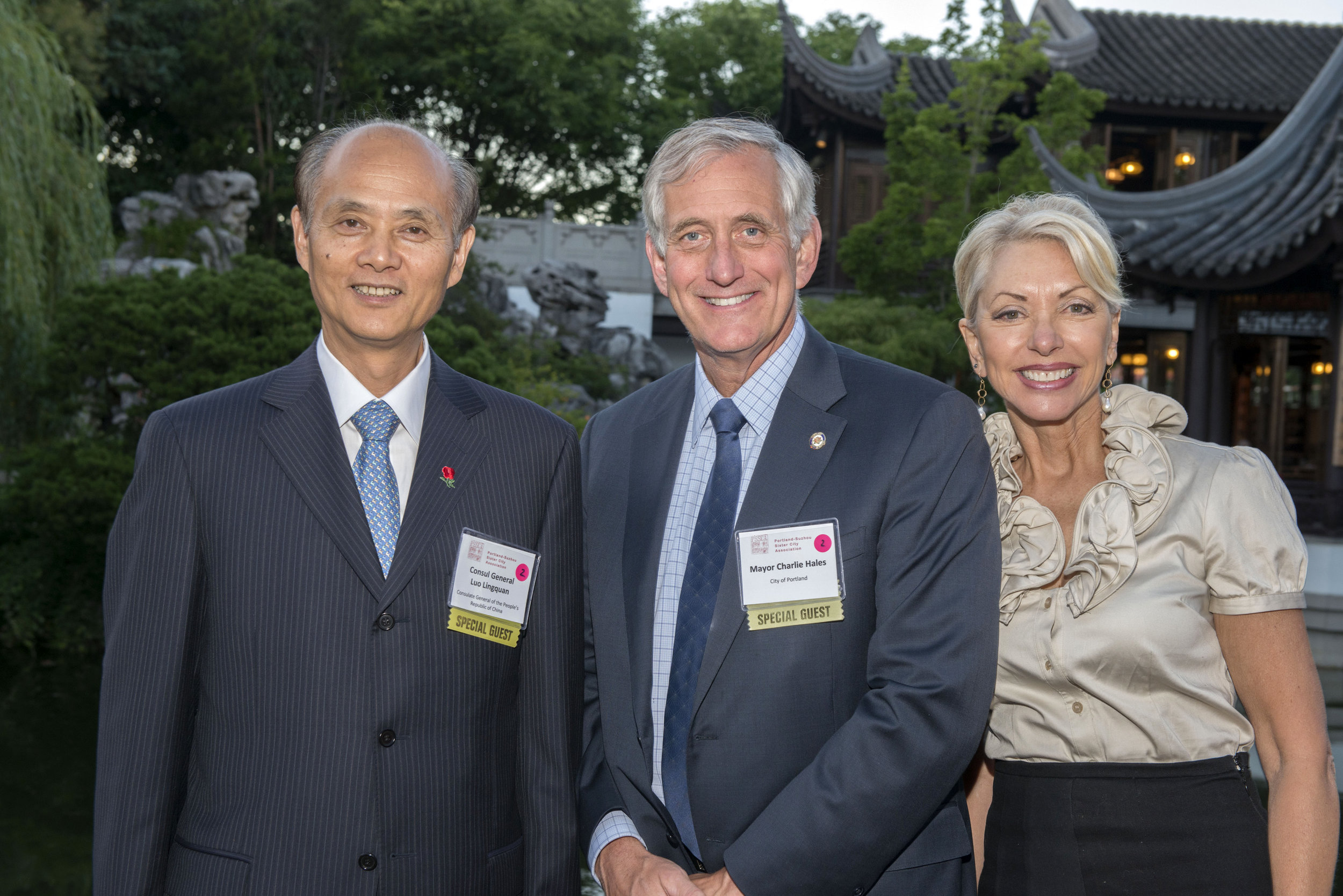6-12-15 PSSCA Gala - Mayor and Mrs. Hales, CG Luo