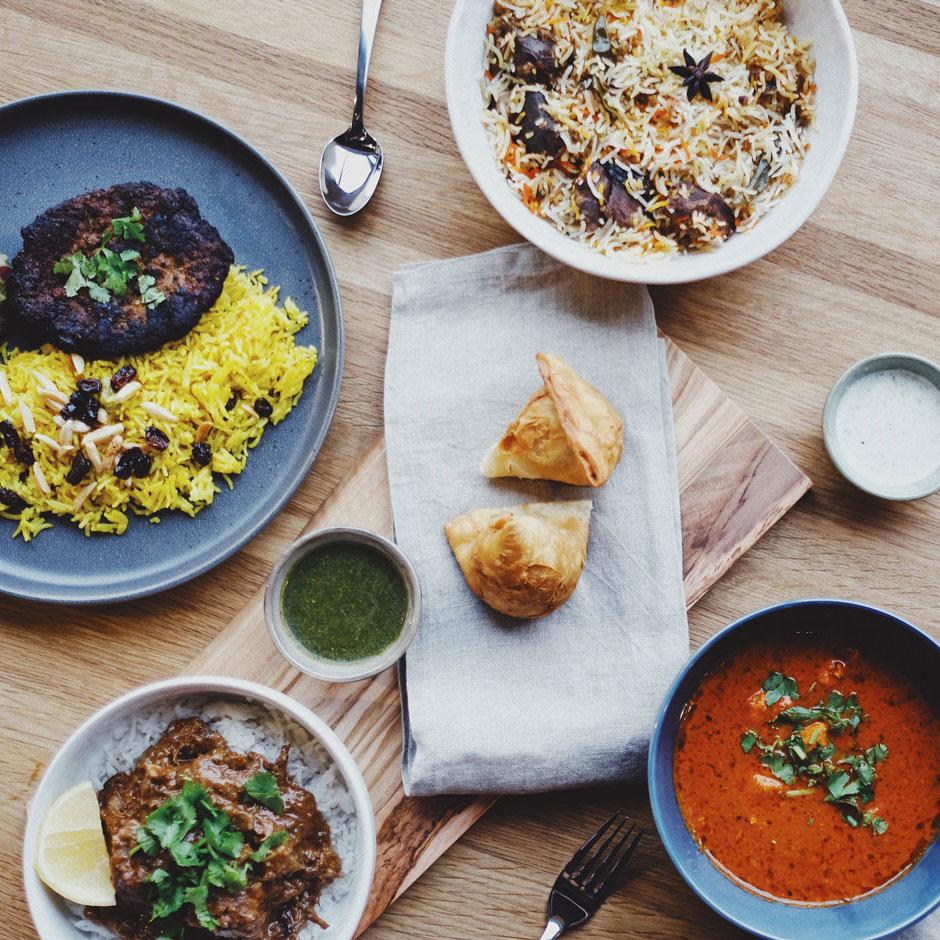 Sohaila's Kitchen Lenexa Public Market Food Spread