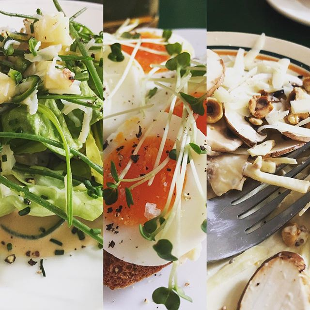 More snippets of a delightful lunch at the gem of a wine bar that is @40maltbystreet crab and monks beard, cod roe & egg, raw mushroom & celeriac... simple, delicious perfection #London #dantesontour