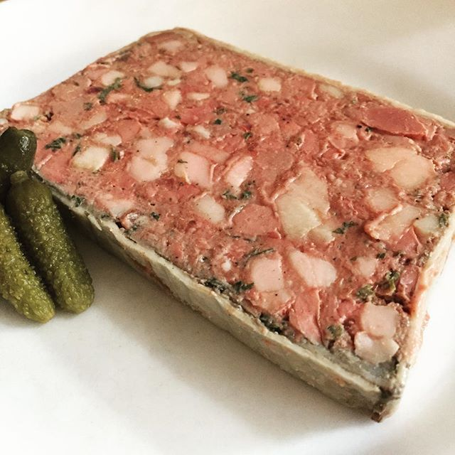 A terrine of chicken liver beauty... a masterclass in french classic cookery that Richard Olney would be proud of! @40maltbystreet #classicfrenchcuisine #terrine