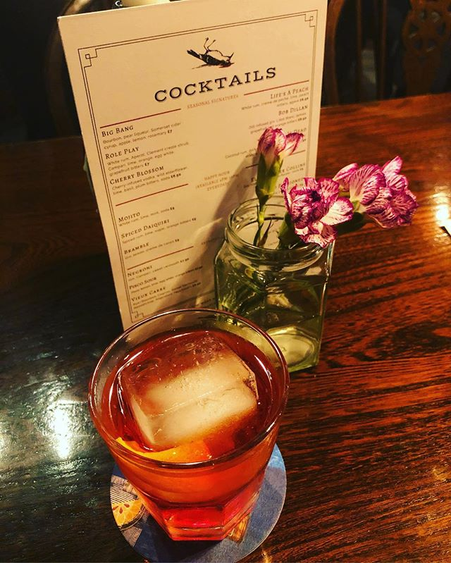 Badass negroni @vittoriabristol so happy to see the reopening of our local. Simple things done well #bristolcocktails #bristolpub #whiteladiesroad