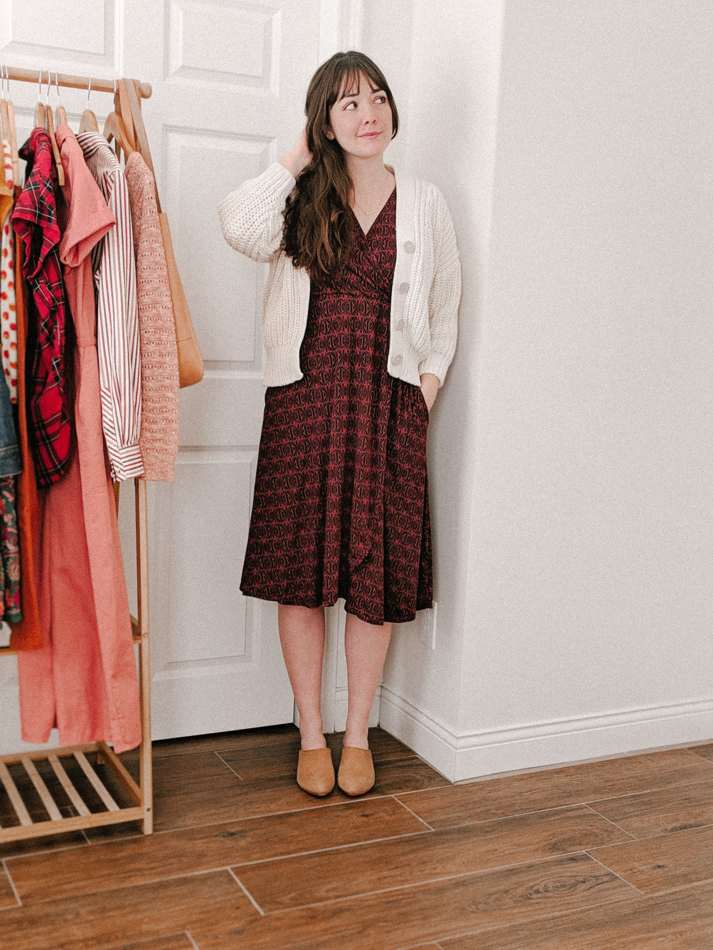 Julia Fennel Print Wrap Dress from Plume & Thread