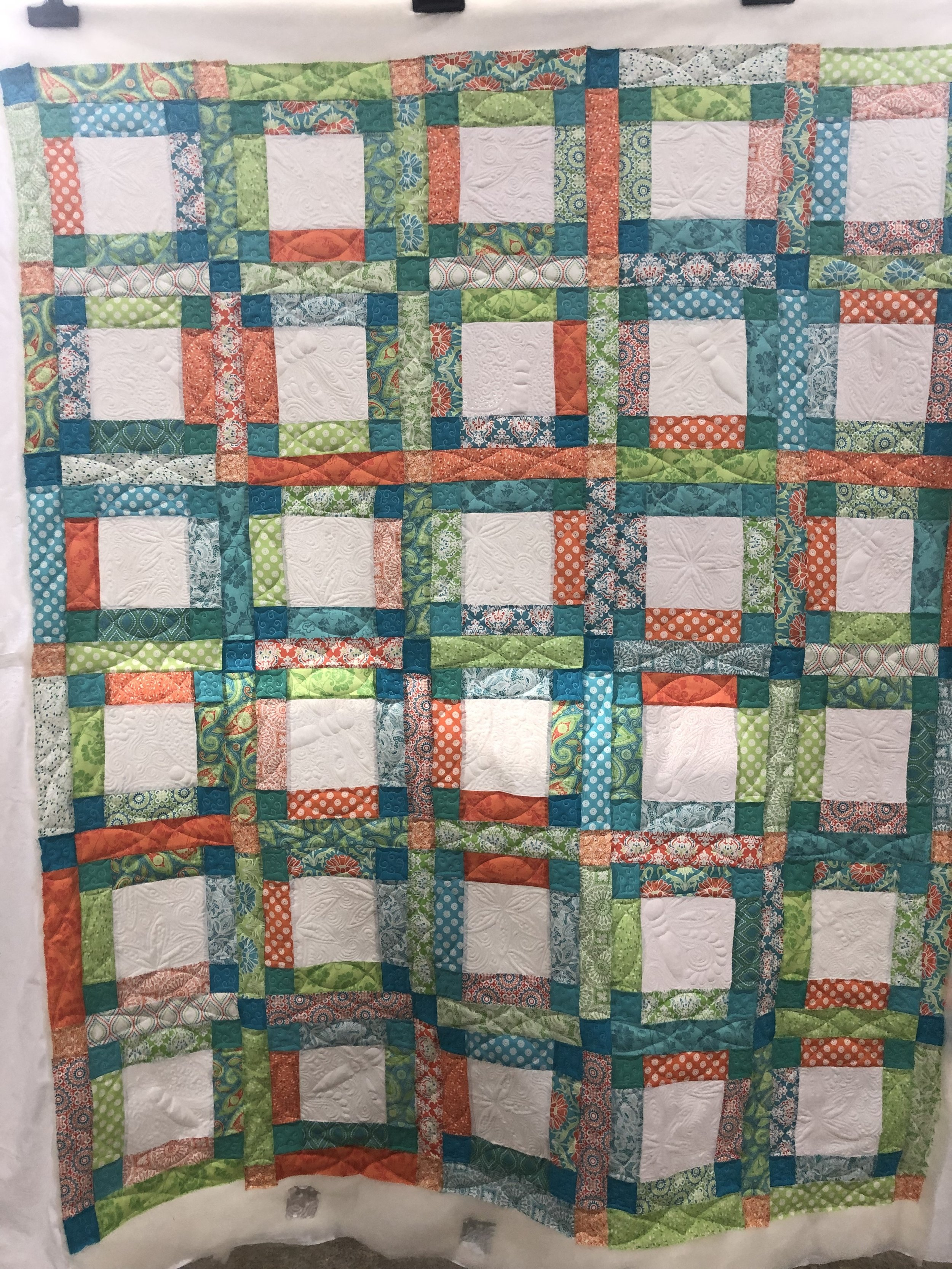 Bordered Squares Quilt Front Full