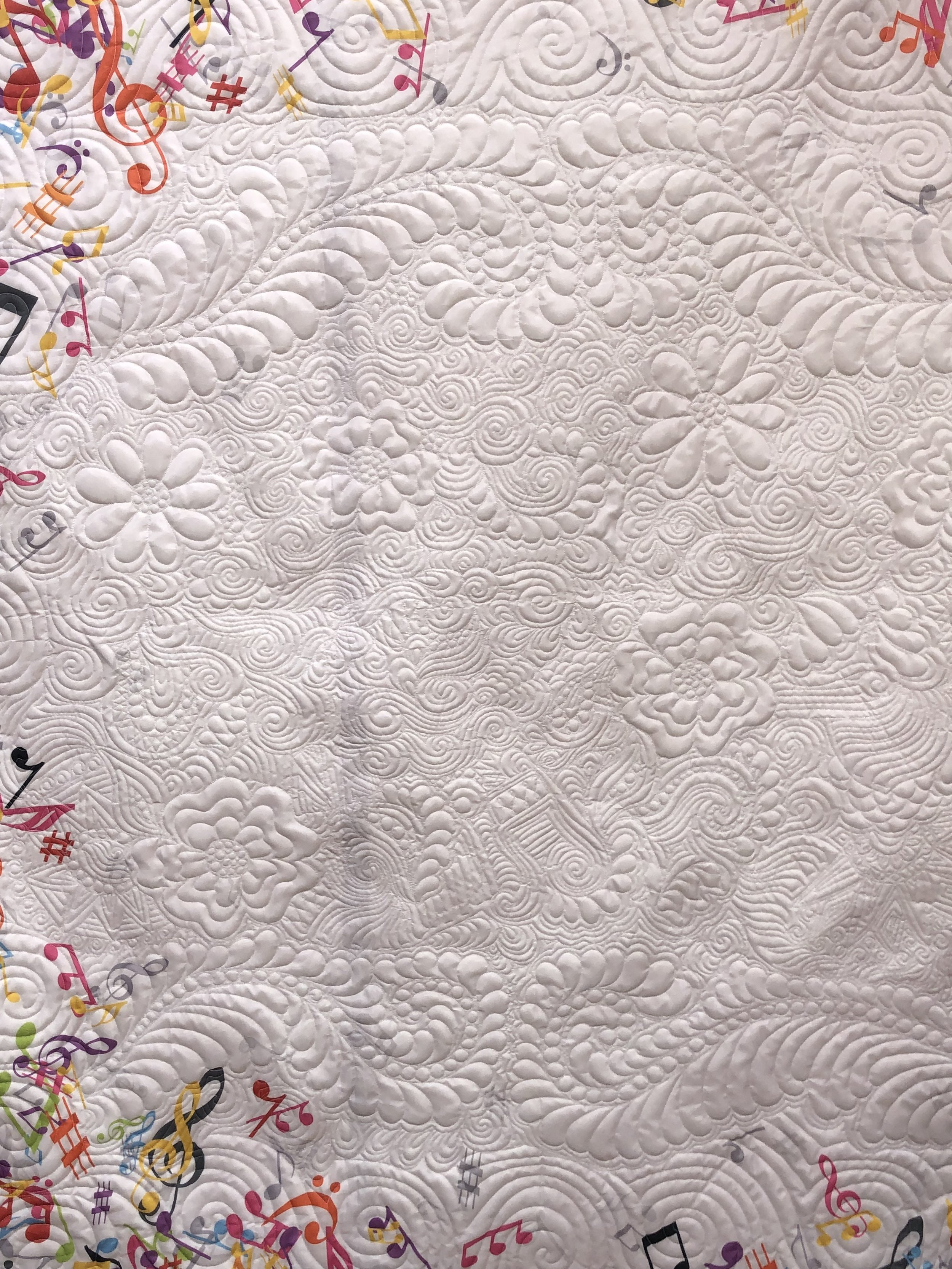 Music Themed Shower Curtain Quilt Front
