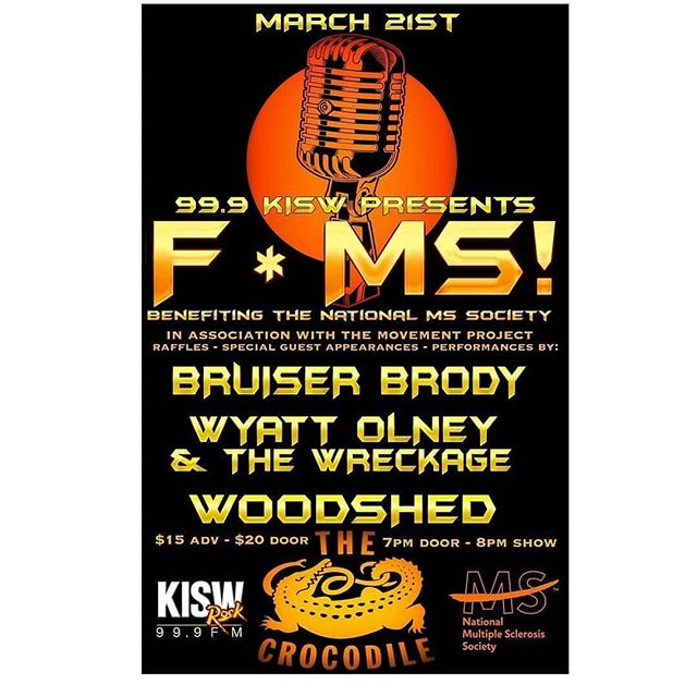 Are you ready for #FMS, #Seattle?! See you Wednesday night for some weeknight charity rocking!! Link in bio for tickets!