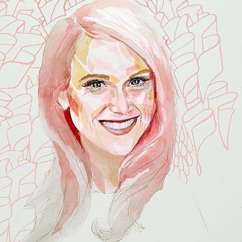 Hustle and Flo Hustle Profile Carlie Craig Painting by Jaye Whitehead