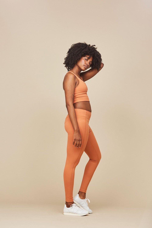 High Rise (7/8) Leggings - Apricot