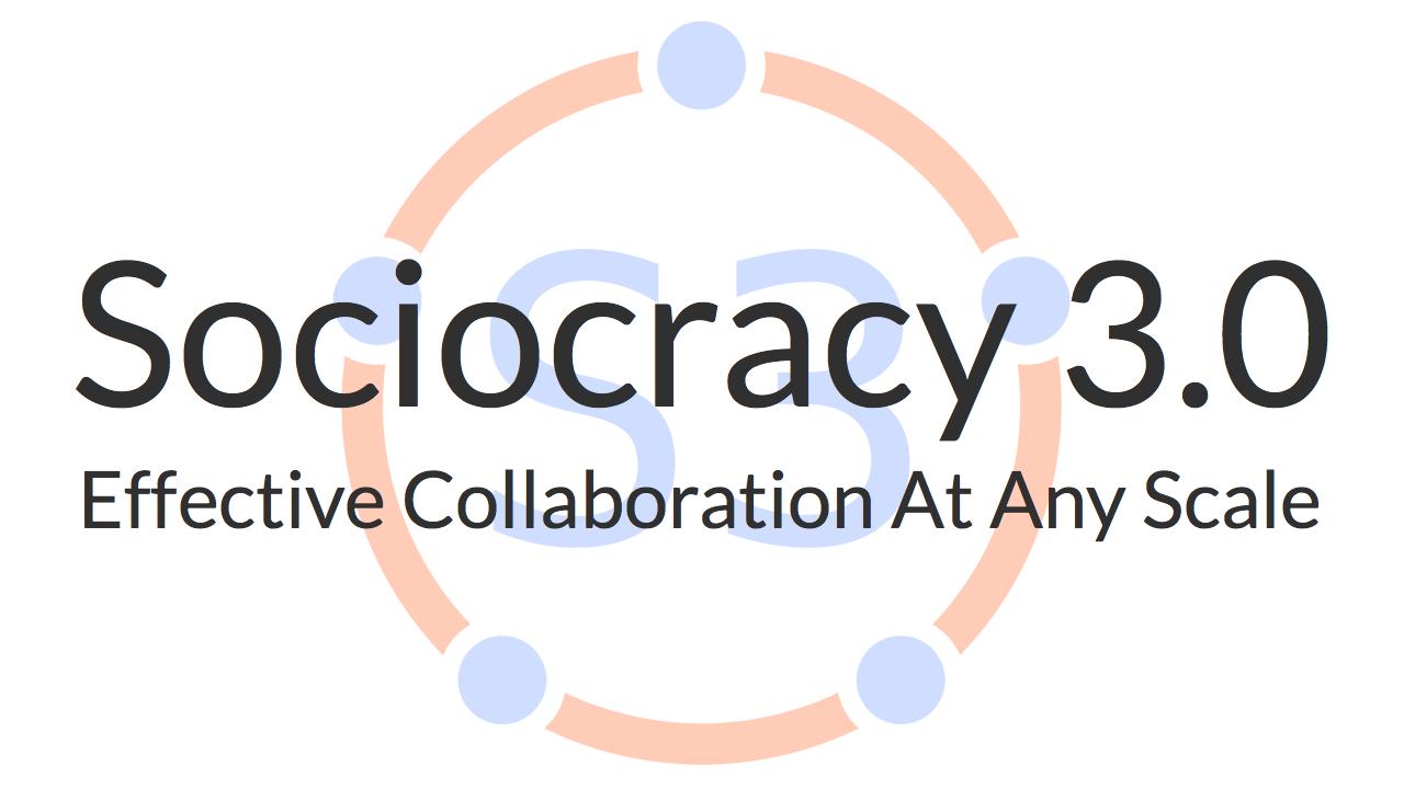 Sociocracy 3.0 is een praktische gids voor het ontwikkelen van flexibele en veerkrachtige organisaties van elke omvang, van kleine startups tot grote internationale netwerken en samenwerkingen tussen meerdere organisaties.