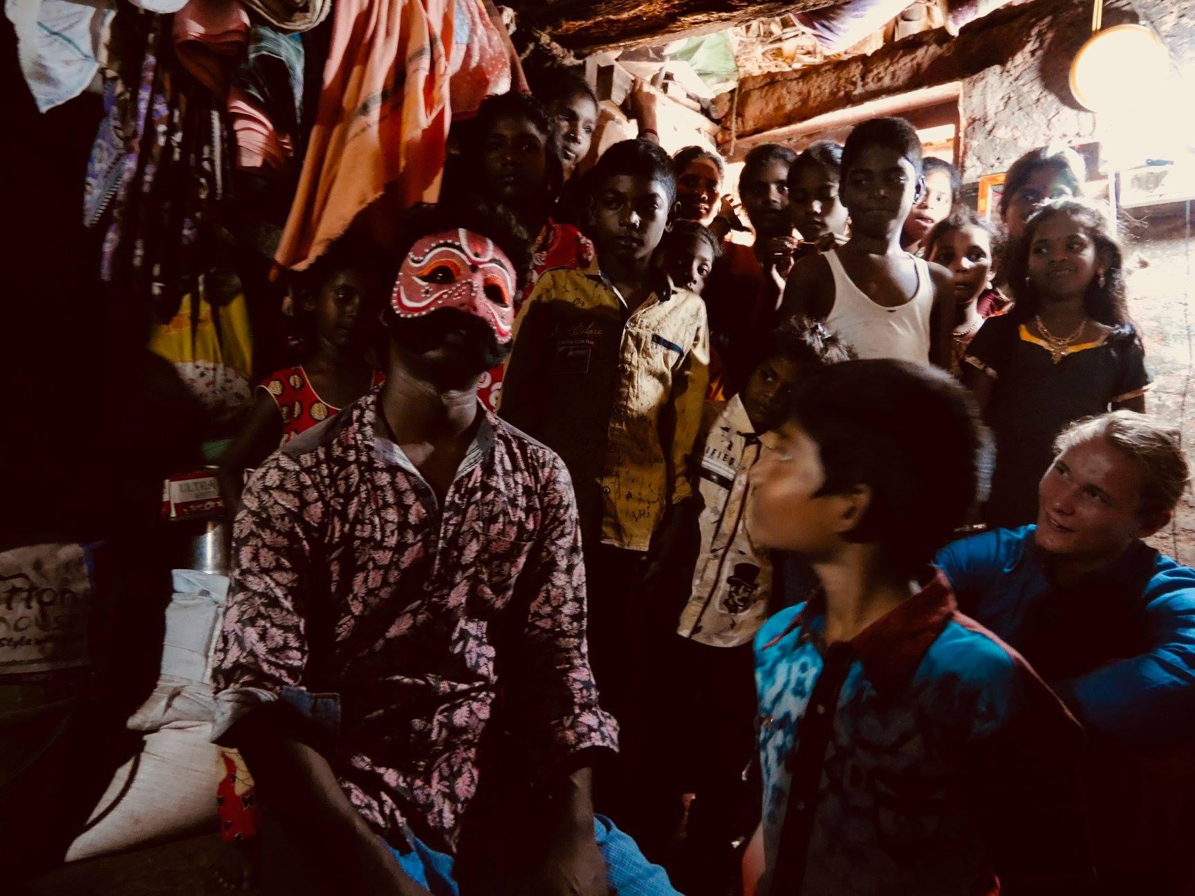 Over Diwali 2018 Karna visited the home of one of the students of the Kattaikkuttu Gurukulam.