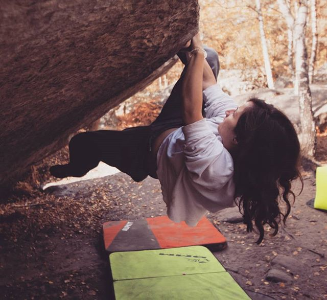 Excited for a trip to Fontainebleau this weekend! Bouldering, chilling, exploring, and did we mention pain au chocolat aux amandes (with almonds)?! Check our website if you'd like to come on a trip too! Link in bio. #boulderingbreaks #climbingoutside #adventureholiday #fontainebleau #getready