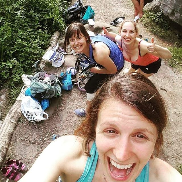 Classic crag scene - climbers gotta come prepared with their gear, guidebook and grub ready for a day of adventure.  We provide kit lists and snack suggestions for all our trips! #beprepared #adventuring #climbingoutside #cragbuddies #climbingholidays