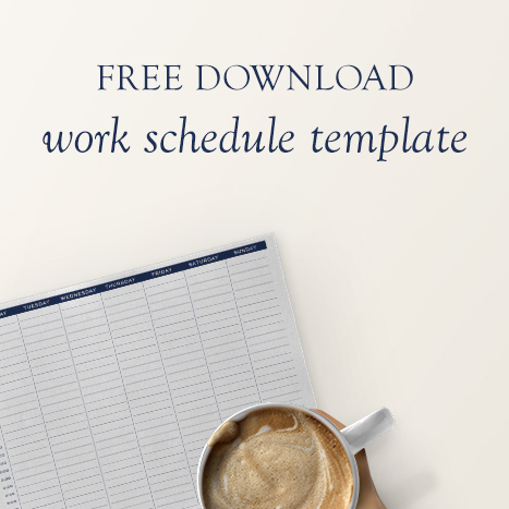 Download the free work schedule template and start scheduling freedom in your business.