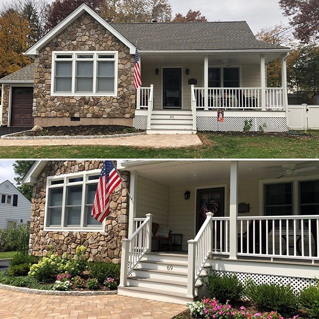 A Hudson Valley before and after 💚 Check out the Q&A with this homeowner about taking her barren yard to full #curbappeal on our blog (link in bio). #tillydesign . . . #tillydesign #loveyourlandscape #online #remotedesign #landscapedesign #landscape_love #landscapearchitect #backyard #yard #plantsofinstagram #ontheblog #blog #readmore #plantingplan #plantdesign #hudsonvalley #newyork #ny #suburban #outdoors #curbappeal #curbappealmatters