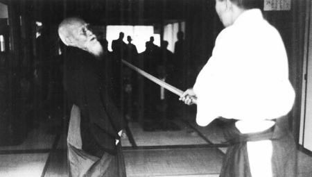 O-Sensei training with Michio Hikitsuchi Sensei
