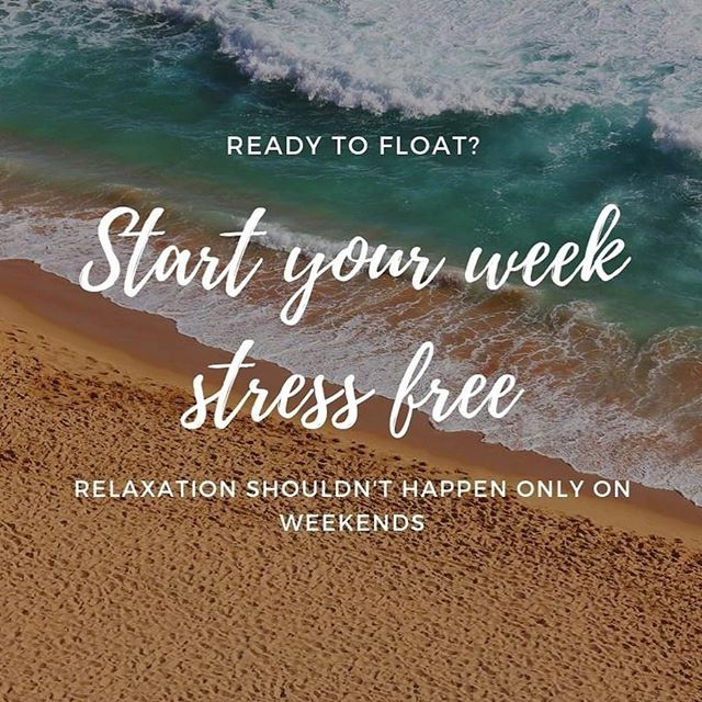 Start your week off stress free. #hubwellness #floatbeyond #sauna #float