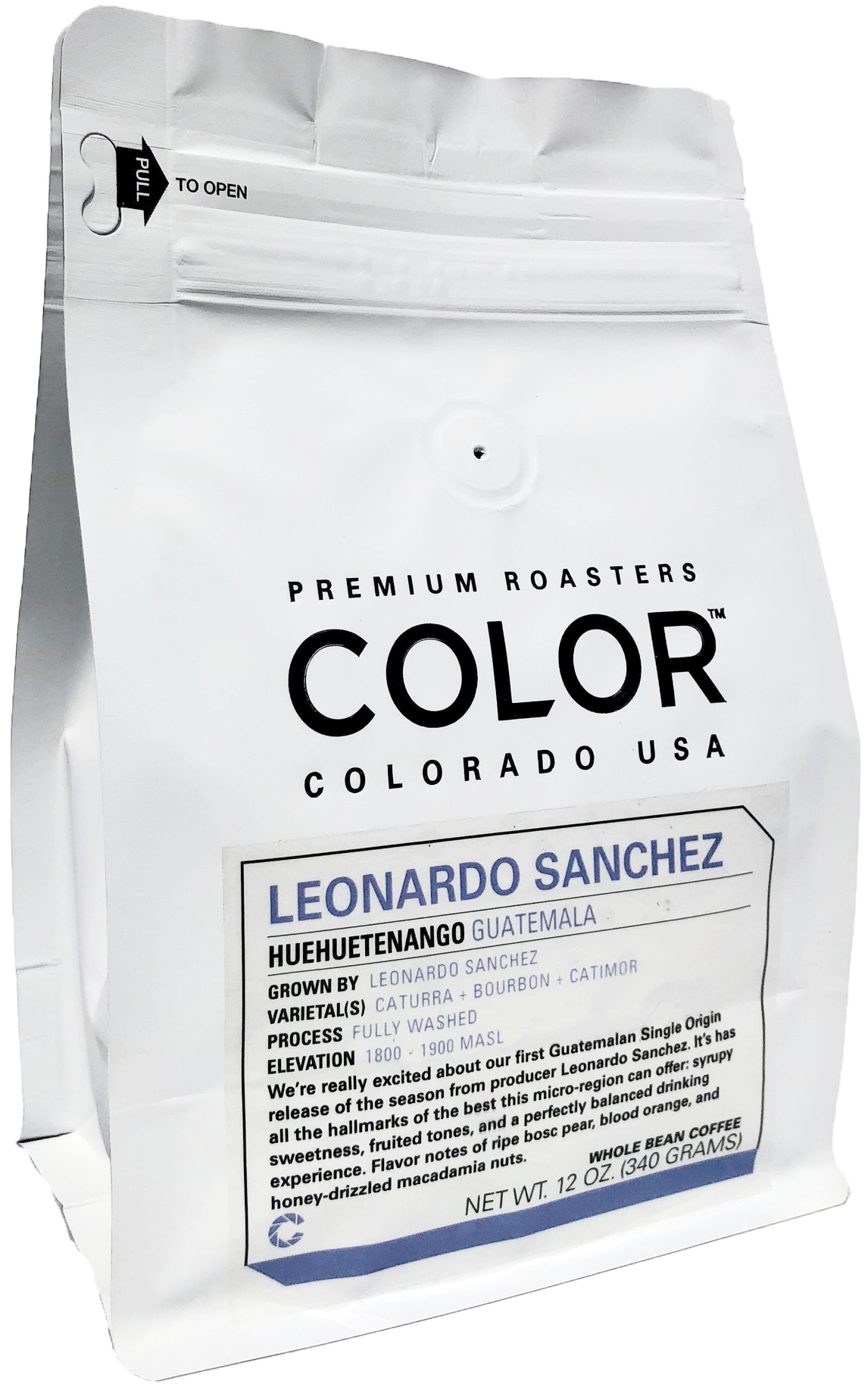 Color - We are serving Color for drip, specifically the Leonardo Sanchez which is a wonderful, vivid, Guatemalan.Eagle, CO USA