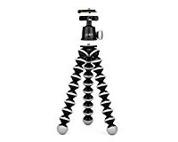 Flexible Tripod - When you don't want to carry around a full size tripod, these are great for a smaller more portable option. The flexible legs make it easy to wrap around objects and tweak your camera position with small adjustments.