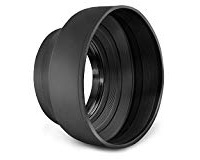 Rubber Lens Hood - Rubber lens hoods are great for taking photos up against glass and eliminating reflections. They work great for getting wildlife photos in zoos and aquariums, or photos in museums. Make sure you get the correct MM size for the lens you need to fit.