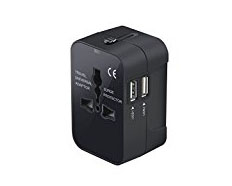 Universal Plug Adapter - Different countries have different types of outlets. If you're traveling with electronics, you might have trouble plugging in without an adapter. Look for a universal adapter like this one so you have an option for every country you visit.