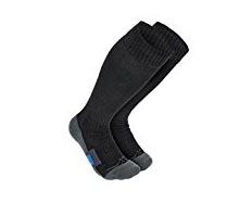 Compression Socks - My legs love to fall asleep when I'm sitting for too long and it happens all the time. Compression socks like this help improve your circulation so you can sit more comfortable while working or flying.
