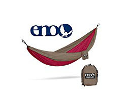 Camping Hammock - I can't say enough about a good travel hammock like this one. They're light and easy to pack. You can also hook them onto the outside of a pack so it doesn't take up any space inside. They're perfect for relaxing outdoors or some people even use them in place of a tent for camping.