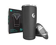 Coffee Brewing Travel Mug - I love my coffee, but I hate having to brew it on the road. I've found cold brew to be a good solution, but this mug is also a great easier way to brew hot coffee on the go.