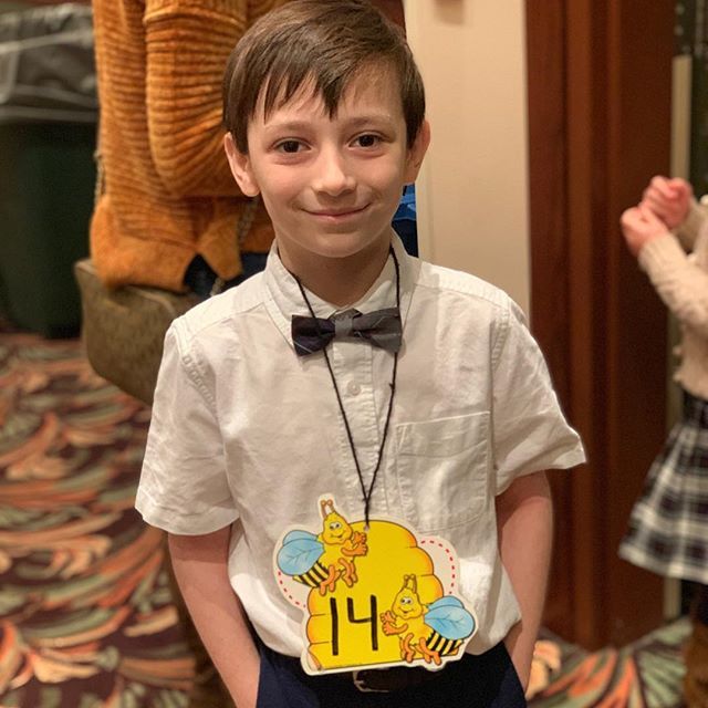 This handsome guy made it all the all to the Archdiocese Spelling Bee, so we are closed for the day to cheer him on!! #familyfirst #smallbusinesslove #spellingbee #myworld #