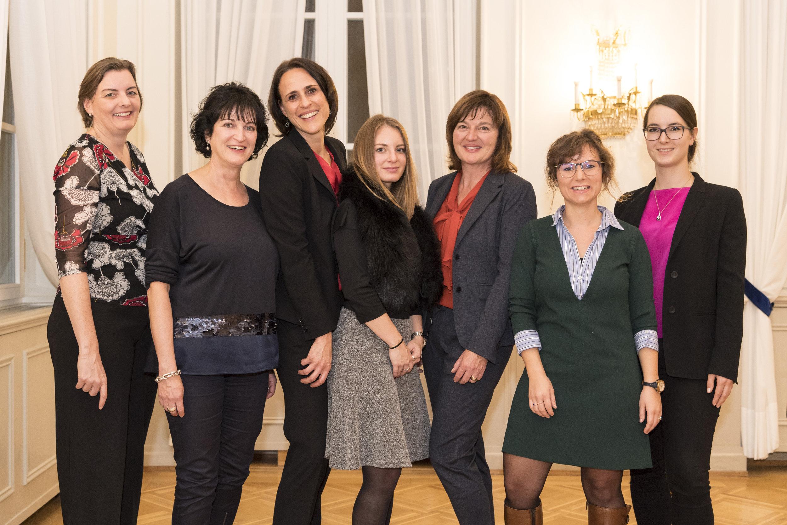 Das womenmatters-Kernteam: Gaby Köhli, Charlotte Trinler, Christine Wittmer, Stefanie Fehr, Karin Giacomuzzi, Marilen Dürr und Patricia Büeler (v.l.n.r.)