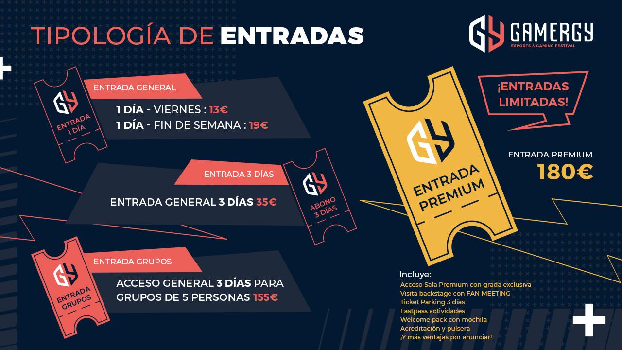 GAMERGY dedicará más de 33.000 metros cuadrados a los esports - GAMERGY 2019, el evento de esports más importante de España organizado por IFEMA y LVP (Grupo MEDIAPRO), que tendrá lugar del 21 al 23 de junio en Feria de Madrid, alza el telón a la venta de entradas para su décima edición. GAMERGY, que dedicará más de 33.000 metros cuadrados a los esports, se presenta cargada de novedades y sorpresas, algunas todavía por descubrir.Días después de presentar su renovada imagen, visible ya en su nueva página web, Gamergy saca sus entradas a la venta con una decidida apuesta por adaptarse a las necesidades del público asistente. Para ello, además de la entrada de día y el abono de tres días, la organización ha generado dos nuevas tipologías de entrada: la entrada de grupo, especialmente indicada para equipos de cinco jugadores; y la entrada premium, que será limitada y que ofrece una experiencia inolvidable a sus compradores.El evento alcanza así su décima edición con el objetivo superar los 50 mil asistentes de junio de 2018, en la que fue la edición más concurrida de la historia. GAMERGY se presenta de nuevo como el lugar de referencia para la comunidad gamer. Es por ello que LVP e IFEMA han habilitado más de 33 mil metros cuadrados dedicados exclusivamente a la competición, que a menudo es sinónimo de pasión, de diversión y de desafíos..Nuevas actividades, varias sorpresas por descubrirEscenario de las finales de la Superliga Orange de CS:GO y Clash Royale, así como de una jornada presencial de la Superliga Orange de League of Legends, GAMERGY acogerá también los torneos semiprofesionales más prestigiosos del país y repetirá, una vez más, como punto de encuentro para miles de aficionados dispuestos a compartir su pasión por los esports.De cara a la décima edición, el evento evoluciona su calendario de actividades para ofrecer la mejor experiencia a los asistentes y da un paso adelante en la variedad de contenidos. Una de las novedades de este año es el King of the Hill