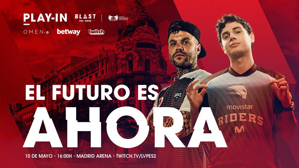 """Giants peleará con Riders por la ansiada plaza en la BLAST Pro Series Madrid de CS:GO - La final del Play-In de CS:GO, el torneo organizado por LVP (Grupo MEDIAPRO) que da acceso a BLAST Pro Series Madrid, tendrá como protagonistas a Movistar Riders y Vodafone Giants. El vencedor de ese encuentro, que se disputará de forma presencial en el Madrid Arena el viernes 10 de mayo, se ganará el derecho a jugar la BLAST de Madrid contra algunos de los mejores equipos del mundo de CS:GO.Los gigantes obtuvieron la plaza en esa final en un vibrante partido ante Team Queso que se resolvió en el tercer mapa. Los quesos entraron en el encuentro mucho más concentrados que su rival, lo que les permitió apuntarse el primer mapa por 16-14. El resultado se repitió en el segundo mapa, pero con Vodafone Giants como vencedor. En el tercero y definitivo pesó el talento y la experiencia de Ricardo """"Fox"""" Pacheco y compañía (16-12), que se llevaron el partido y el acceso a la gran final del clasificatorio español a BLAST Pro Series Madrid.De esta forma, en el Madrid Arena viviremos en directo el duelo entre Fox y Óscar """"Mixwell"""" Cañellas, dos jugadores con experiencia internacional y líderes indiscutibles de sus respectivos equipos. Un duelo apasionante que permitirá al vencedor medirse a algunos de los mejores jugadores del mundo como Dev1ce (Astralis), S1mple (Natus Vincere) o F0rest (Ninjas in Pyjama).Cartel de lujo para BLAST Pro Series MadridBLAST Pro Series ya ha anunciado a la mayor parte de equipos que competirán en el Madrid Arena, los días 10 y 11 de mayo, por un bote de 250.000 euros en premios. Entre ellos estará el conjunto danés Astralis, mejor equipo del mundo en la actualidad, además de NAVI (Ucrania), NIP (Suecia), Cloud9 (Estados Unidos) y un quinto equipo por desvelar, además del representante español. Las entradas para BLAST Pro Series Madrid ya se han puesto a la venta.Una conexión histórica para el CS:GO españolLa conexión entre LVP y BLAST Pro Series es un hito históri"""