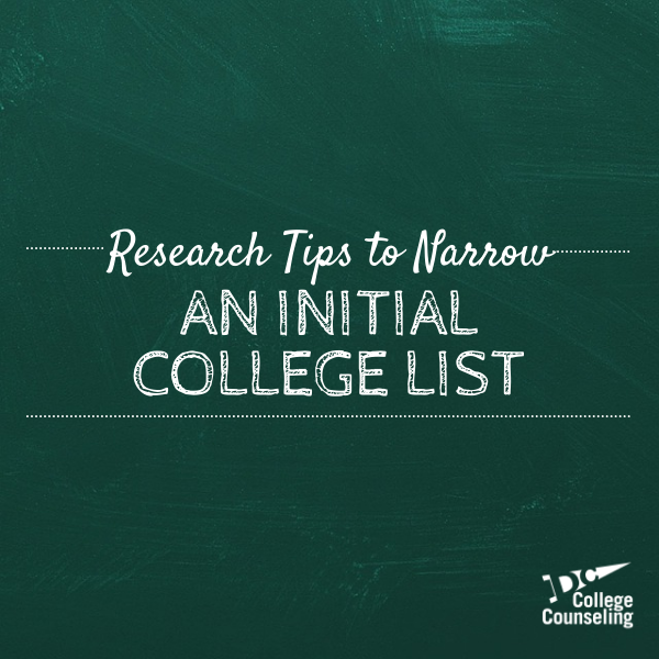 College List Research Northern Virginia