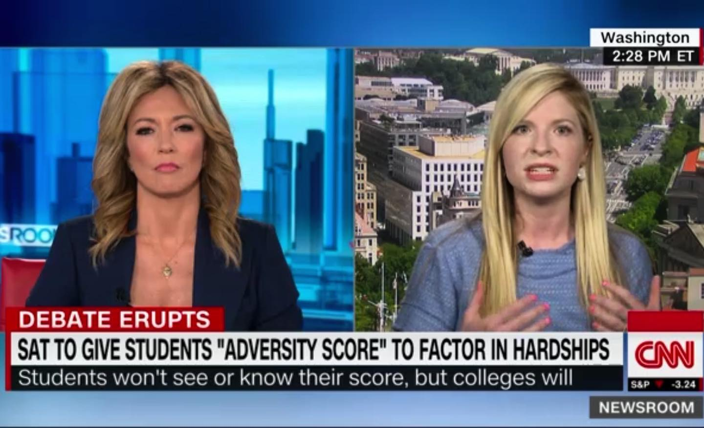 Discussing the ECD on CNN last Friday